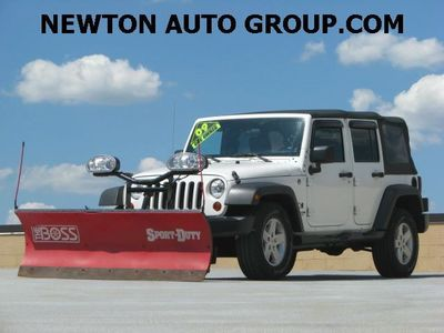 2009 Jeep Wrangler Unlimited Unlimited Auto BOSS PLOW Newton, MA, Bos