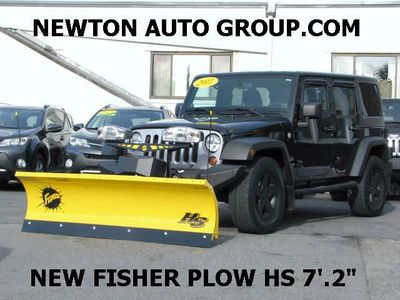 2011 Jeep Wrangler Unlimited 4WD Fisher plow, Newton, MA, Boston, MA